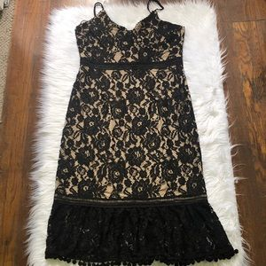 ABS COLLECTION lace slip dress NWT